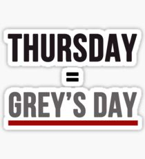 Grey's Day Sticker