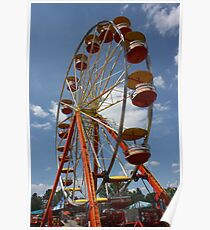 ferris wheel at fair Poster