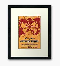 Sinema night Venture Bros Movie Framed Print