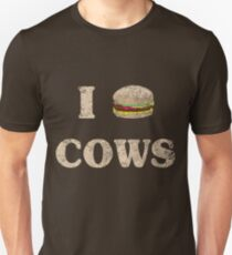 I Love Cows Hamburger Unisex T-Shirt