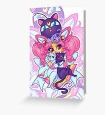Sailor Mini Moon & Space Kitties Greeting Card