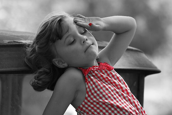 Little Girl In Red by Tina Hailey