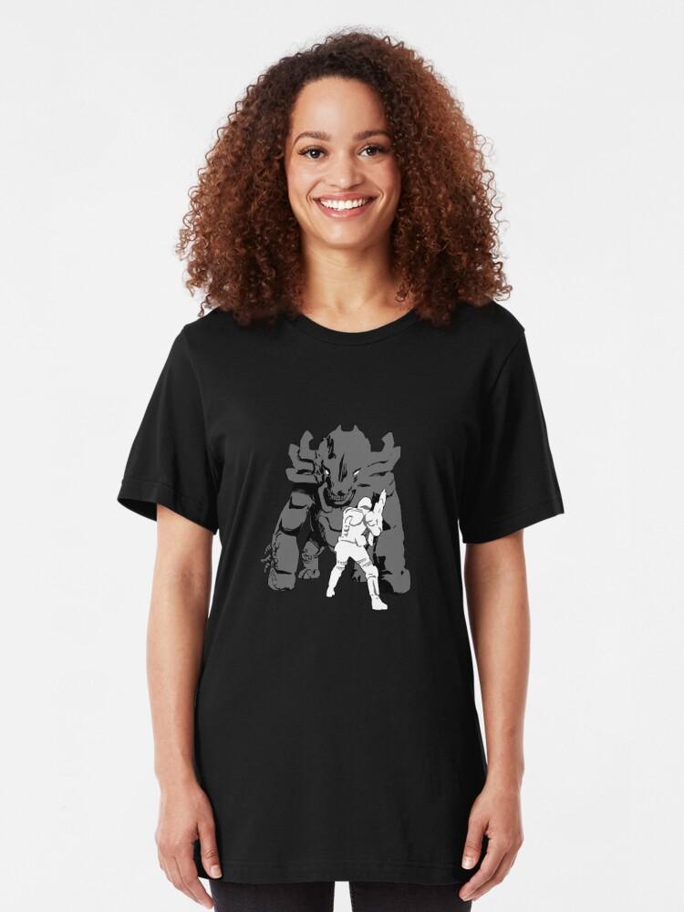 Alternate view of Onos verses Marine  Slim Fit T-Shirt
