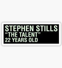 Scott Pilgrim - Stephen Stills' Name Tag Sticker