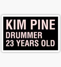 Scott Pilgrim - Kim Pine's Name Tag Sticker