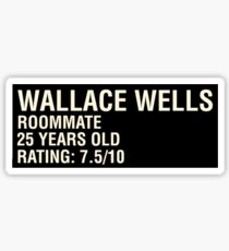 Scott Pilgrim - Wallace Wells' Name Card Sticker