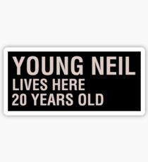 Scott Pilgrim - Young Neil's Name Card Sticker
