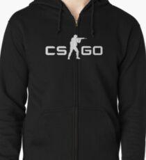 CSGO - White Zipped Hoodie