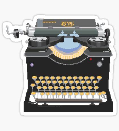 Pixel Typewriter Royal No 10 Sticker