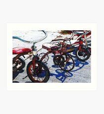 Vintage Tricycles Art Print