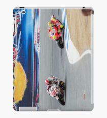 Marco Simoncelli and Valentino Rossi at laguna seca 2011 iPad Case/Skin