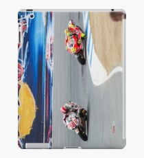 Marco Simoncelli and Valentino Rossi at laguna seca 2011 iPad Case/Skin
