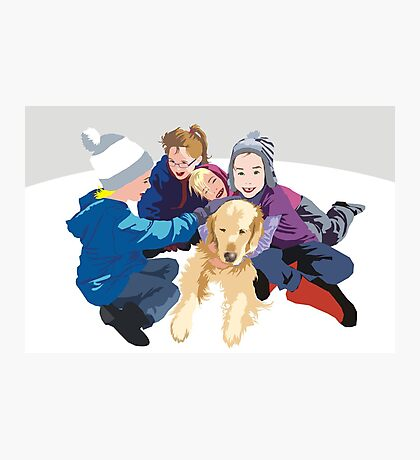 Snowball and friends Photographic Print