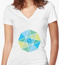 Vectors and light Women's Fitted V-Neck T-Shirt