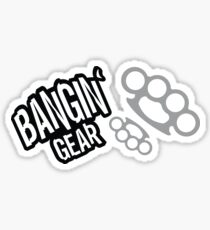 Bangin' Gear Brass Knuckles Items Sticker