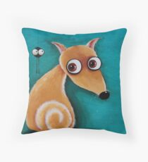 The dog and the spider Throw Pillow