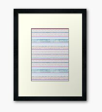 Blue Screen Print Aztec Framed Print