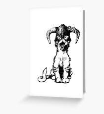 Dragonborn Kitty Greeting Card