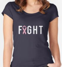 Fight Pink Ribbon Women's Fitted Scoop T-Shirt
