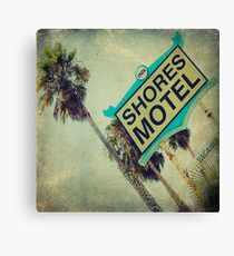 Shores Motel and Palms  Canvas Print