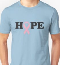 Hope. Breast Cancer Unisex T-Shirt