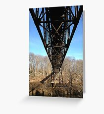 Under the Grand River Trestle Bridge Greeting Card