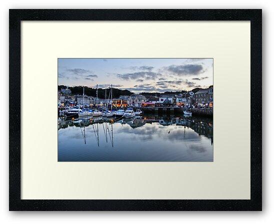 Dusk Over a Cornish Harbour by pixog