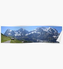 Eiger, Monch, and Jungfrau Poster