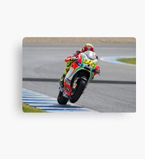 Valentino Rossi in Jerez 2012 Canvas Print