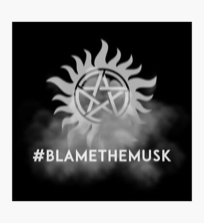 Hashtag Blame the Musk Photographic Print