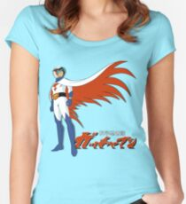 Ken The Eagle Large Women's Fitted Scoop T-Shirt