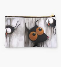 Stressie Cat and the crows Studio Pouch