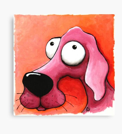 The Pink Dog Canvas Print