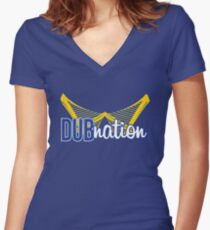Dub Nation Women's Fitted V-Neck T-Shirt