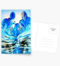 double blue you Postcards