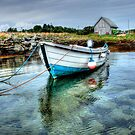 HDR - Boat in Gigha by Sue Fallon Photography
