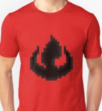 8bit Fire Nation Emblem - 3nigma Unisex T-Shirt
