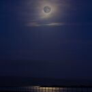 Jetty at Gigha, in moonlight by Sue Fallon Photography