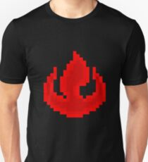 8bit Fire Nation Emblem 2 - 3nigma Unisex T-Shirt