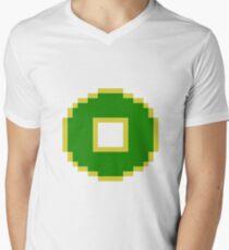 8bit Earth Kingdom Emblem - 3nigma Men's V-Neck T-Shirt