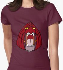 The Face of Battle Cat  Womens Fitted T-Shirt