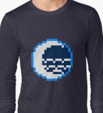 8bit Water Tribe Emblem - 3nigma Long Sleeve T-Shirt
