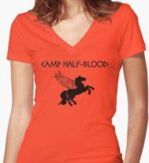 Camp Half-Blood Camp Shirt Women's Fitted V-Neck T-Shirt