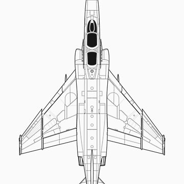 McDonnell Douglas F-4 Phantom II Blueprint by zoidberg69