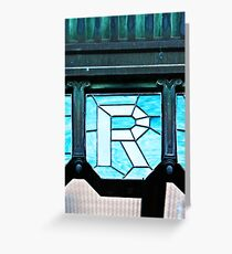 Alphabet Soup - The Letter R Greeting Card