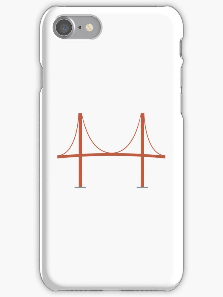 Minimal Golden Gate Bridge iPhone Cover by Peter Fedewa