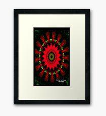 Mandala Spiral Notebook Framed Print