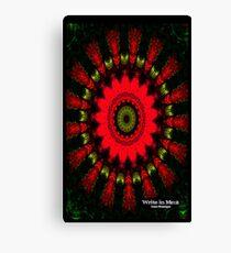 Mandala Spiral Notebook Canvas Print