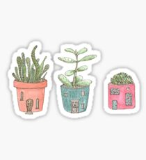 Cactus houses Sticker