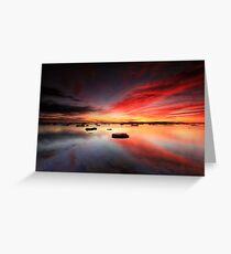 Long Reef Reflections Greeting Card